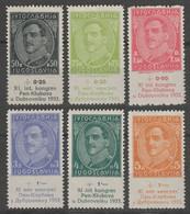 Journalist PEN Club Dubrovnik 1933 Yugoslavia SHS KING Alexander Aleksandar Label Vignette - Michel Mi. 249-254 MNH - Ungebraucht