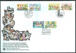 UN 1994 T016 - Population And Development - Triple FDC - Emisiones Comunes New York/Ginebra/Vienna