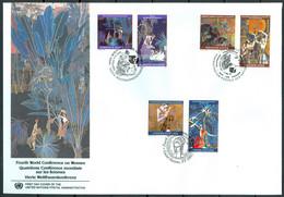 UN 1995 T024 - 4th World Conference On Woman - Triple FDC - Emisiones Comunes New York/Ginebra/Vienna