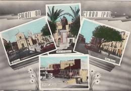 CERDA-PALERMO-SALUTI DA...4 VEDUTINEI-CARTOLINA VIAGGIATA IL 1-9-1955 - Palermo