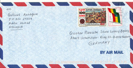 Ethiopia Air Mail Cover Sent To Germany 29-10-2002 - Etiopia