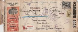 RARE  LETTRE DES PHILIPPINES POUR L'ESPAGNE  CENSURE BRITANNIQUE PAR CLIPPER  NOMBREUX CACHETS 1940 - Filippijnen