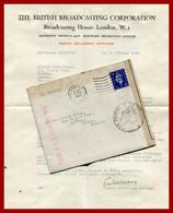 """Lettre De La BBC à Une Auditrice De Tartas (Landes) 01/03/1940. Censure RC 227 (Mont De Marsan). """" Drôle De Guerre """" - Guerra Del 1939-45"""