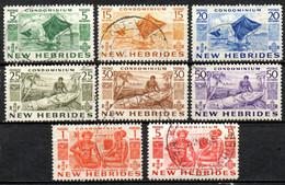 Nouvelles Hebrides : Yvert N° 155/165; 8 Valeurs - Used Stamps