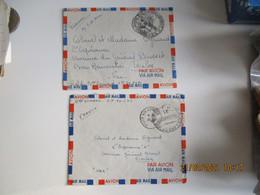Lot De 3  Lettre S P Sp 696 T O E  Guerre Indochine Viet Nam Franchise Postale - War Of Indo-China / Vietnam