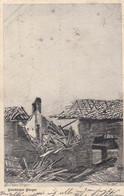 AK Feindlicher Flieger - Bombardiertes Haus - K.B. Res.-Inf.-Rgt. 17 - Künstlerkarte Busch - Feldpost 1915 (54471) - War 1914-18