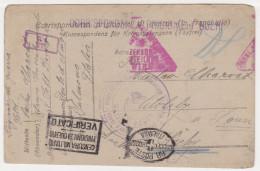1918 Italy Prisoner Of War Correspondence, POW, Cover, Feldpost, Field Post. (P03034) - Zonder Classificatie