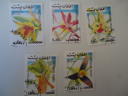 AFGHANISTAN  USED    STAMPS  FLOWERS   ORCHIDS - Afganistán