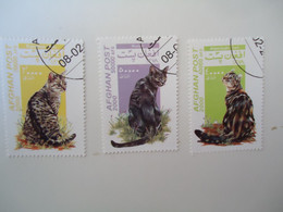 AFGHANISTAN  USED    STAMPS  CAT   CATS - Afganistán