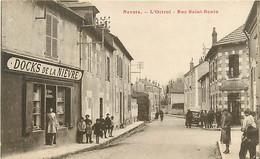 58 NEVERS - RUE DE SAINT BENIN - COMMERCE LE DOCK DE LA NIERVRE - Nevers