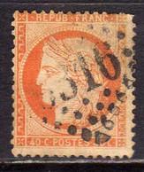 FRANCE FRANCIA 1870 1871 CERES CENT. 40c USATO USED OBLITERE' - 1870 Siège De Paris