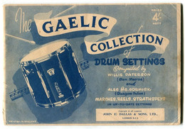 Partition Musique Celtique Gaelic Collection Of Drum Settings By Willie PATERSON - Musica Popolare