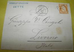 1875  ... GO  FROM FRANCE TO LIVORNO /  VIAGGIATA  DALLA  FRANCIA  PER  LIVORNO - 1870 Siège De Paris