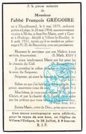 DP Abbe Grégoire ° Xhendremael Ans† Villers-le-Bouillet / Moha Wanze / Geer / Hodeige Remicourt / Villers-l'Évêque Awans - Devotion Images
