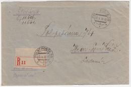Czechoslovakia Registered Cover, Feldpost, Fieldpost, War, Millitary. Polni Posta 59, Stefanik, Ziar Nad Hronom (Q03095) - Briefe U. Dokumente