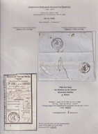DDY 680 - TURNHOUT Bourgmestre Et Notaire Dierckx - Lettre Non Affranchie ANVERS 1858 + Talon De Versement - Altri