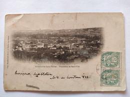 Cpa, Carte Primaire, Trés Belle Vue, Environs De Saint Vallier, Panorama De Saint Uze - Andere Gemeenten