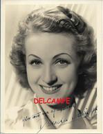 Danièle DARRIEUX Photo 18 X 24 Dédicacée + Courrier Dactylographié Signé Paris 06/09/1941 Guerre 40-45 WWII Cinéma - Handtekening