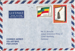 Ethiopia Air Mail Cover Sent To Germany - Etiopia