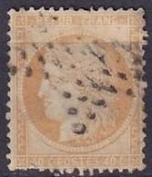 FRANCE - 40 C. Orange Oblitéré étoile De Paris - 1870 Siège De Paris