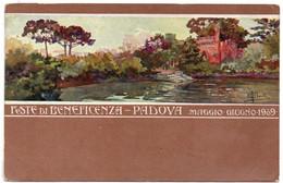 PADOVA - FESTE DI BENEFICENZA 1909 - NON VIAGGIATA - Werbepostkarten