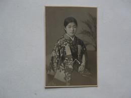PHOTO ANCIENNE - JAPON : Scène Animée - Jeune Femme Fille Distinguée - Persone Anonimi