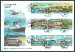UN 1997 T037 - Transports - ECE - ESCAPI - Triple FDC - Emisiones Comunes New York/Ginebra/Vienna