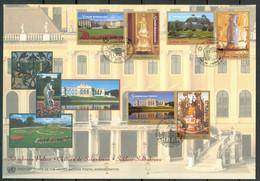 UN 1998 T046 - UNESCO World Heritage - Schönbrunn Palace Wien - Triple FDC - Emisiones Comunes New York/Ginebra/Vienna