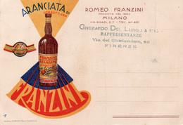 ARANCIATA DI SORBETTERIA - ROMEO FRANZINI - MILANO - NON VIAGGIATA - Advertising