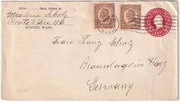 USA 1928  ENTIER POSTAL/GANZSACHE/POSTAL STATIONARY LETTRE DE AUBURN - 1921-40