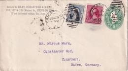 USA 1891  ENTIER POSTAL/GANZSACHE/POSTAL STATIONARY LETTRE DE CHICAGO - ...-1900
