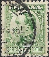 SPAIN 1930 Alfonso XIII - 10c - Green FU - Oblitérés