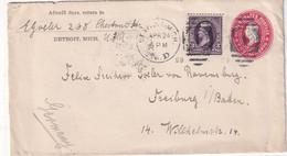 USA 1899  ENTIER POSTAL/GANZSACHE/POSTAL STATIONARY LETTRE DE DETROIT - ...-1900