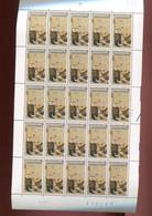 Belgie 1987 2247 Europalia Painting GUSTAV KLIMT Austria  Full Sheet MNH Plaatnummer 2 - Feuilles Complètes