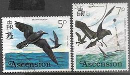 Ascention  1976  Sc#200 5d & 202 7d Birds Used   2016 Scott Value $4.20 - Ascensione