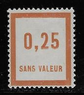 TIMBRES FICTIFS EMISSION DE 1935 N° F30 0,25 BRUN-JAUNE NEUF * TRES RARE TB COTE 2,40 € - Finti