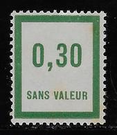 TIMBRES FICTIFS EMISSION DE 1935 N° F31 0,30 VERT NEUF ** TRES RARE TB COTE 2 € - Finti