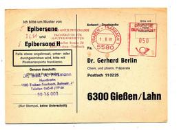 Carte Flamme Ema Traben Dermatologue - Marcophilie - EMA (Empreintes Machines)