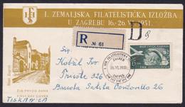 Yugoslavia, 1951, Zefiz, FDC, Mailed - Storia Postale