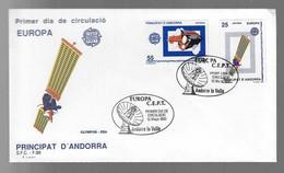 FDC Ariane (45)  Andorre Europa CEPT Satellite - FDC