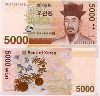 SOUTH KOREA      5000 Won       P-55a       ND (2006)      UNC - Korea, South