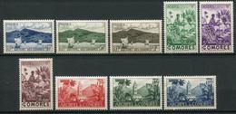 20933 COMORES N°1/9** Sites  1950  TB - Unused Stamps