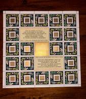 December Post Zegels 1991 Blok Niew - Blocks & Sheetlets