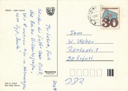 Tschechoslowakei Mi. 2229 Brief TGST Orlik 1979 - Postkarte Nach DDR - Cartas