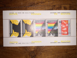 KIND EN KULTUR 1986 Blok Niew - Blocks & Sheetlets