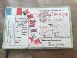 Rare Carte De Correspondance Militaire Poilu 126° Territorial Foum Tataouine Tunisie 1914-18 - 1914-18