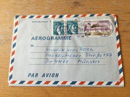 K16 France Entier Postal Stationery Ganzsache YT 1004-AER De Tournus Pour Münster - Luftpostleichtbriefe
