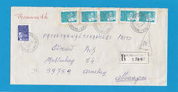 """LETTRE RECOMMANDÉE  DE ST. GERMAIN DES PRES AVEC TIMBRES """"MARIANNE DU 14 JUILLET"""" POUR ARNSBERG,ALLEMAGNE. - Lettres & Documents"""