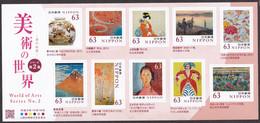 (ja1487) Japan 2020 World Of Arts No.2 63y MNH Ninsei Shoen Hokusai Modigliani Matisse Monet - Nuovi
