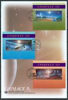 UN 1999 T051 - UNISPACE III - Triple FDC - Emisiones Comunes New York/Ginebra/Vienna
